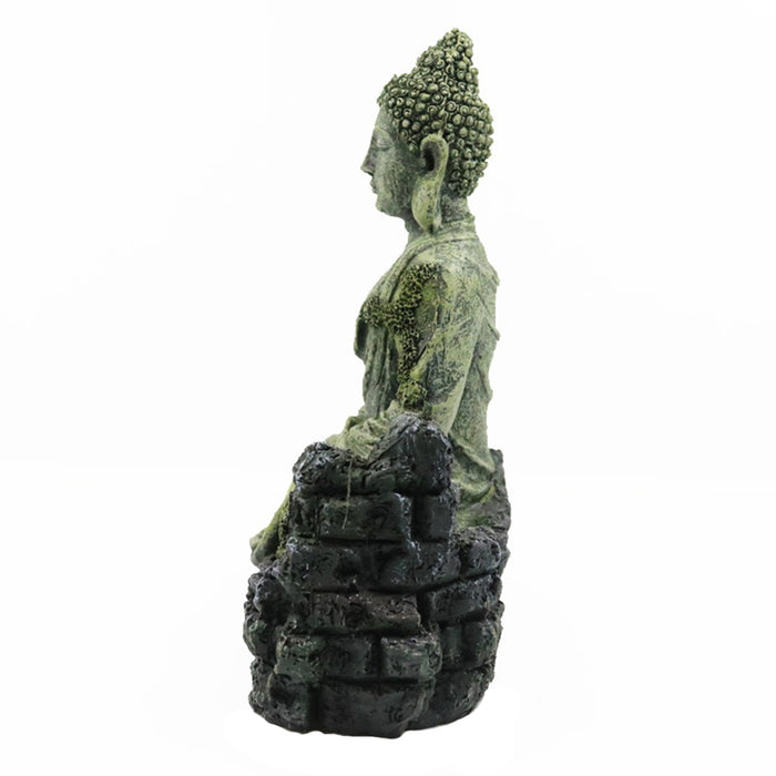 Crafts Gifts Fish Tank Resin Reptiles Hotel Aquarium Decoration Ornament Buddha Statue Accessories Sitting Simulation Home - [variant_title]