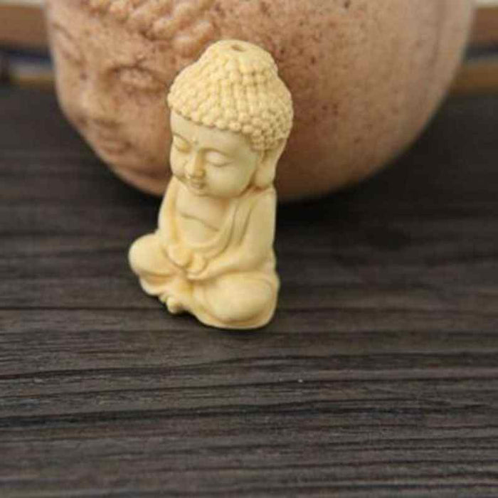 1pc Carving Boxwood Wood Buddhism Sakyamuni Figurine Buddha Statue Pendant Home DecorationYLM9911 - [variant_title]