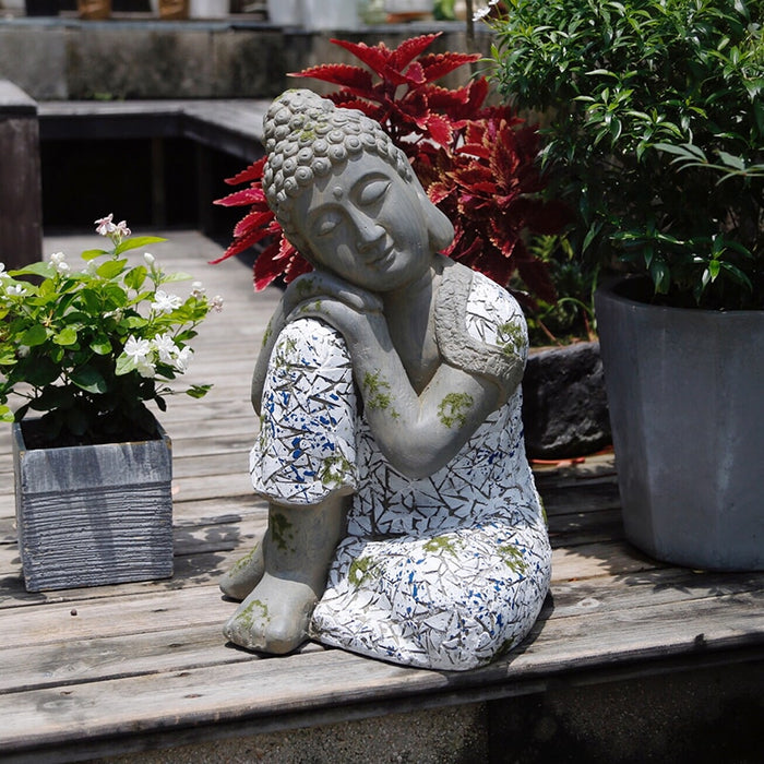 Statue Bouddha <br> jardin accoudement - [variant_title]