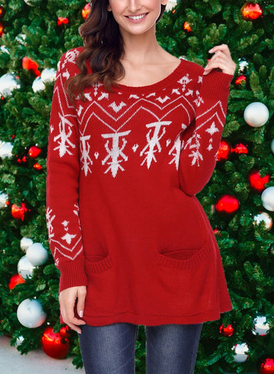 A-line Casual Fit Christmas Fashion Sweater