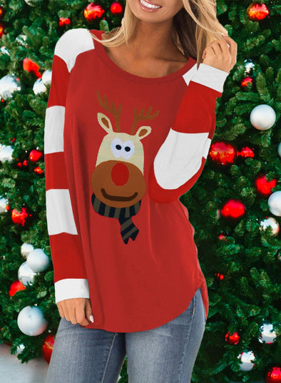 Christmas Fashion Sweater with Reindeer