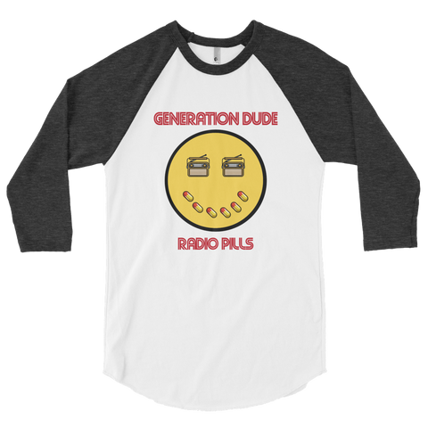 Radio Pills 3/4 sleeve raglan shirt