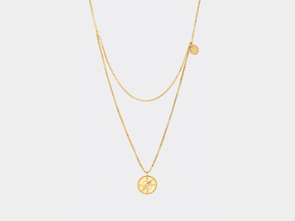 Kirkegaard Necklace | Gold Plated