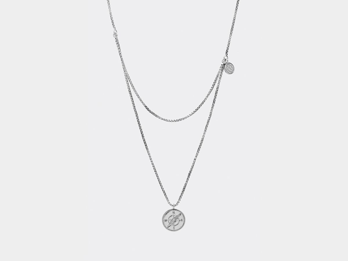 Kirkegaard Necklace | Silver