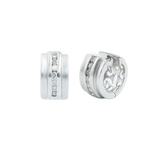 Aretes Huggies con Brillantes