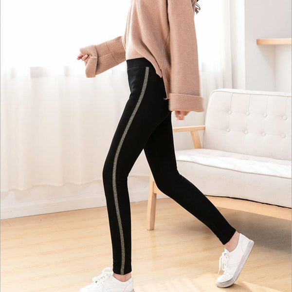 Leggings femmes rayures sport Fitness automne hiver