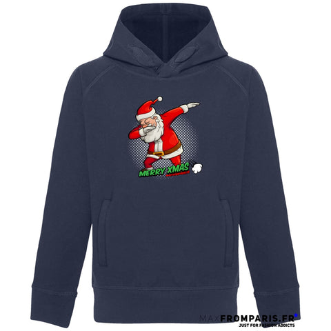 SWEAT ENFANT COL HAUT MERRY XMAS FROM MAX II - French Navy / 3/4 ans - French Navy / 5/6 ans - French Navy / 7/8 ans - French Navy / 9/11 ans - French Navy / 12/14 ans