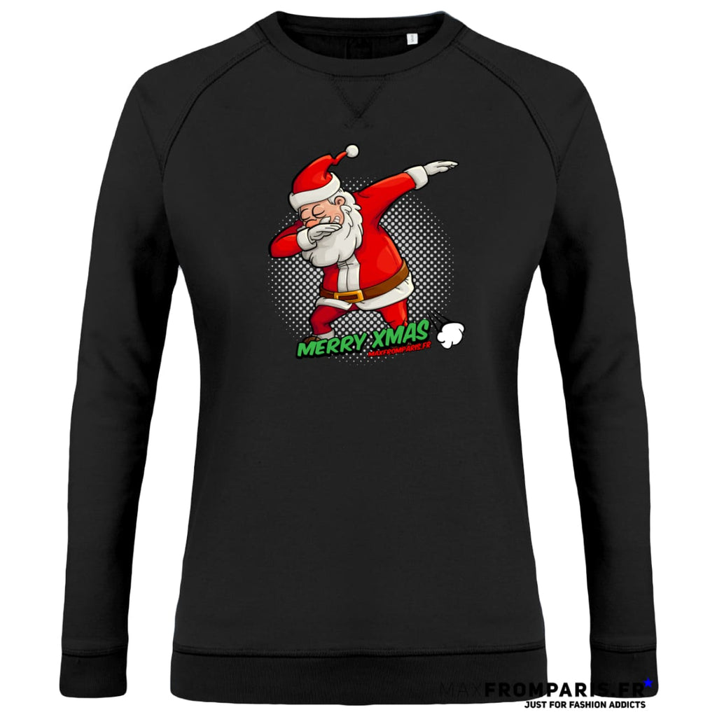 SWEAT FEMME COL ROND MERRY XMAS FROM MAX II - Black / XS - Black / S - Black / M - Black / L - Black / XL - Black / XXL