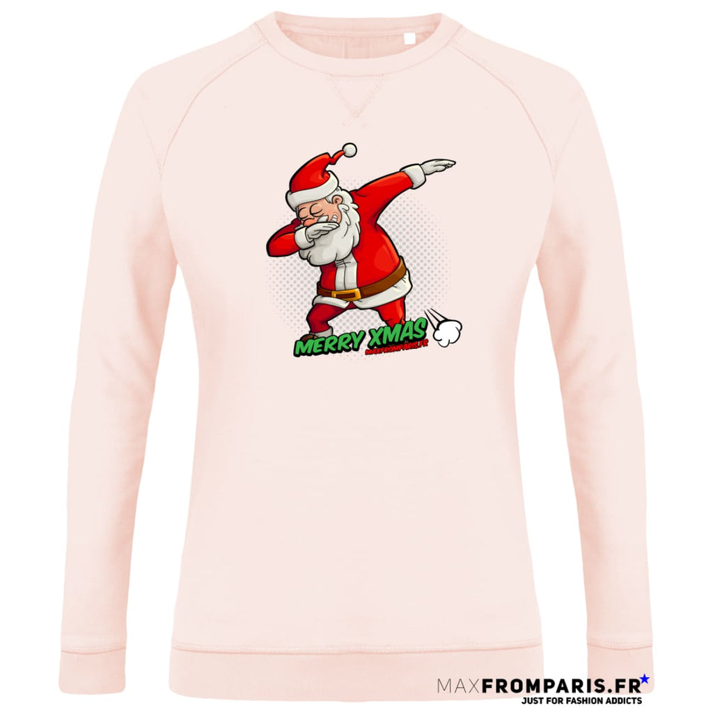 SWEAT FEMME COL ROND MERRY XMAS FROM MAX II - Candy Pink / XS - Candy Pink / S - Candy Pink / M - Candy Pink / L - Candy Pink / XL