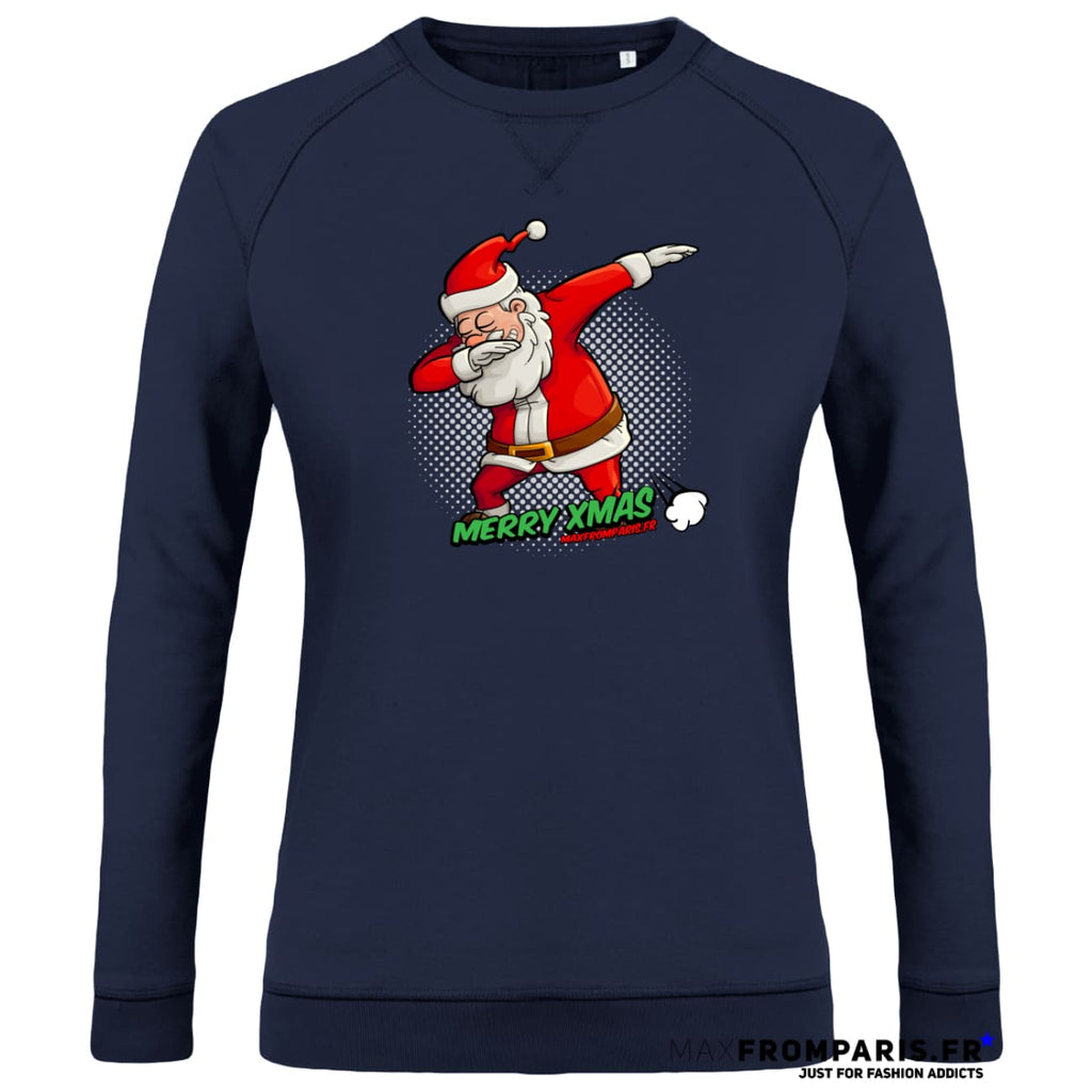 SWEAT FEMME COL ROND MERRY XMAS FROM MAX II - Navy / XS - Navy / S - Navy / M - Navy / L - Navy / XL - Navy / XXL
