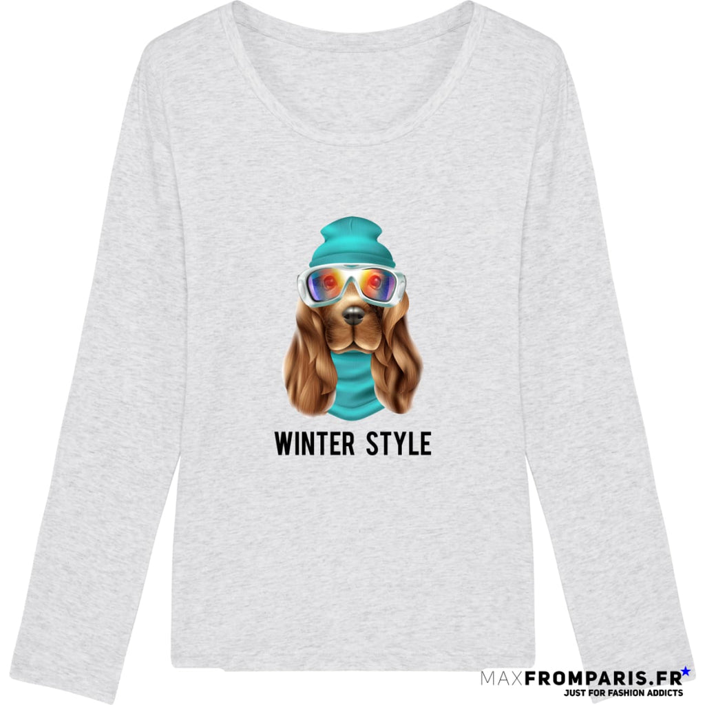 TEE-SHIRT FEMME WINTER ATTITUDE BY MAX - Heather Ash / XS - Heather Ash / S - Heather Ash / M - Heather Ash / L - Heather Ash / XL
