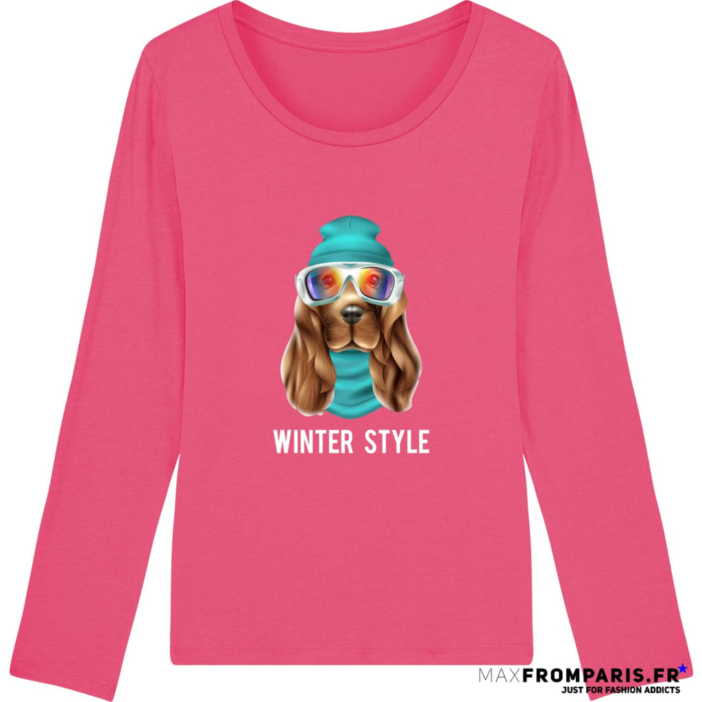 TEE-SHIRT FEMME WINTER ATTITUDE BY MAX - Pink Punch / XS - Pink Punch / S - Pink Punch / M - Pink Punch / L - Pink Punch / XL