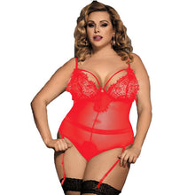 Sexy Transparent Plus Size Teddy Lingerie in Multi Color Choices