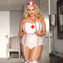 Sexy Nurse Costume/Uniform White EroticPlus Size Teddy Lingerie