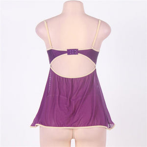 Sexy Purple Plus Size Baby Doll Lingerie
