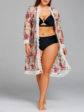 Mesh Fringed Bikini with Robe