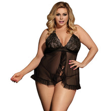 Sexy Hot Erotic Sleeveless Transparent Plus Size Lingerie