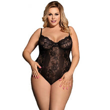 Transparent Floral Plus Size Teddy Lingerie