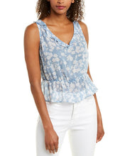 Load image into Gallery viewer, BELLA DAHL RUFFLE PEPLUM TOP