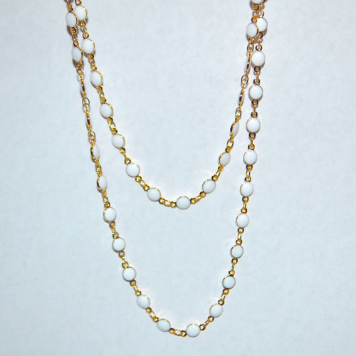 WHITE DOT NECKLACE