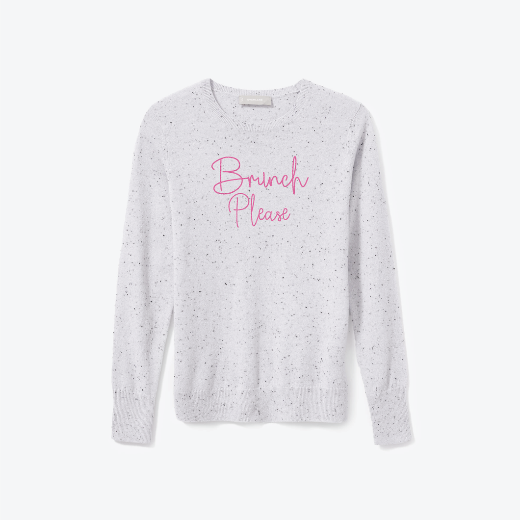 BRUNCH PLEASE CASHMERE SWEATER