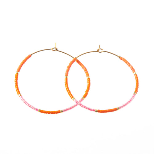 BAJA HOOP EARRING ORANGE
