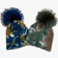 Load image into Gallery viewer, Tie-Dye Pom Hat