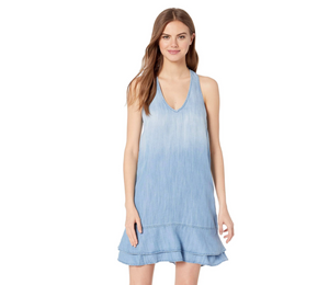 BELLA DAHL STRIPE TRIM DRESS