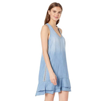Load image into Gallery viewer, BELLA DAHL STRIPE TRIM DRESS
