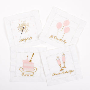 BIRTHDAY GIRL EMBROIDERED COCKTAIL NAPKINS-PRE ORDER