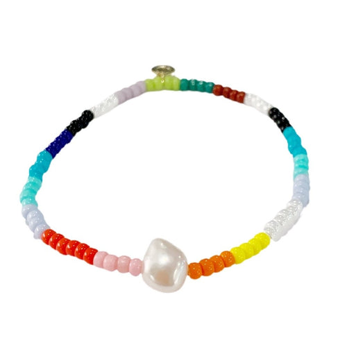 RAINBOWS & PEARLS BRACELET