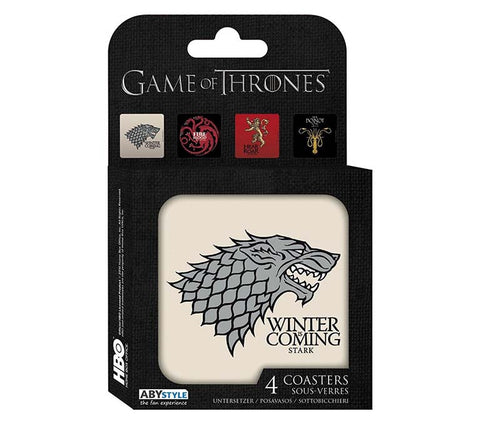 Game Of Thrones - Houses Coasters - Set Of 4