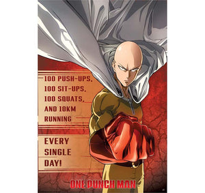 One Punch Man - Training Poster