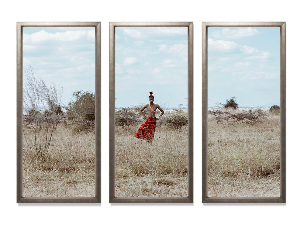 The Cool Maasai 4 - Triptych