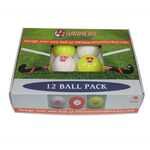 4Winners Indoor Smooth Field Hockey Balls 12pk