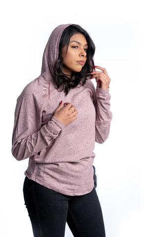 4Winners Hooded Longsleeve Maroon