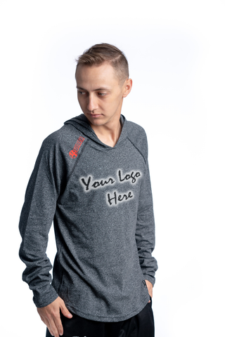 4Winners Custom Hooded Long Sleeve Charcoal