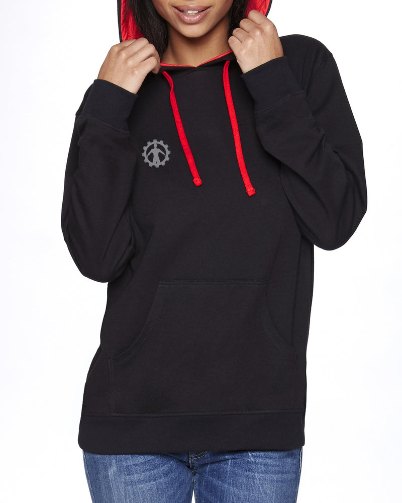 FIIT Factory Black and Red Hoody Gray Cog