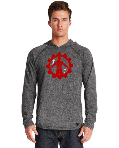 FIIT Factory Gray Hoody Red Logo