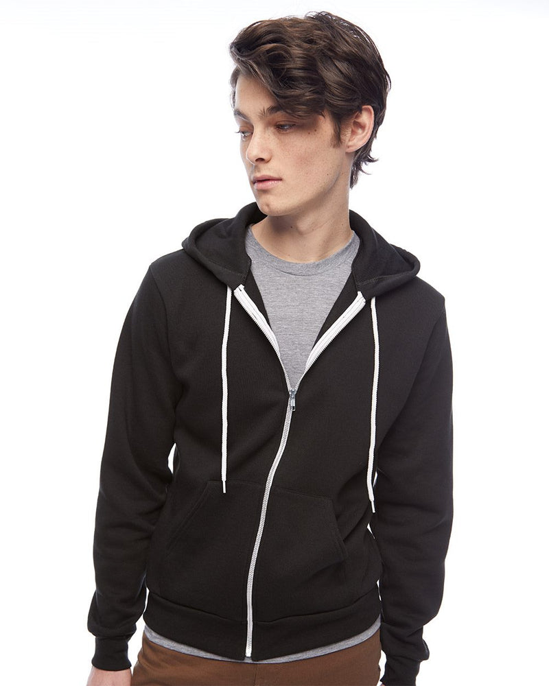 American Apparel - USA-Made Flex Fleece Unisex Full-Zip Hoodie - Embroidery