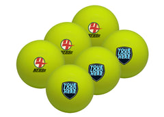 yellow custom field hockey balls