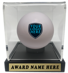 Enhance your end of season awards and celebrate your favorate field hockey athlete with a customized ball trophy. Customize the case plaque as well as design the ball inside!