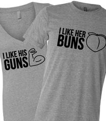 Guns and Buns tees