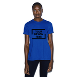 dark blue custom american apparel t shirt