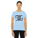 light blue custom american apparel t shirt