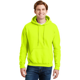 custom printed safety green gildan hoodie