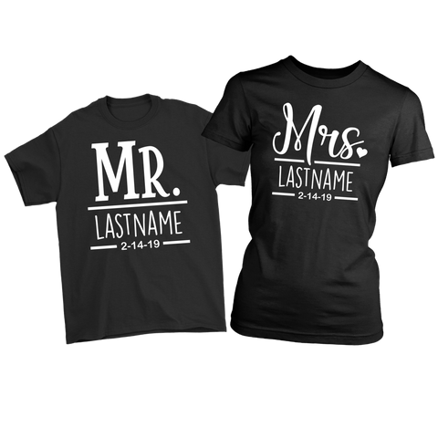 Mr & Mrs Shirts