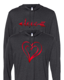 Bright Love Hooded Shirt