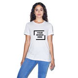 White custom american apparel t shirt