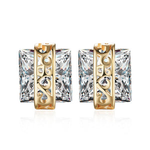 Swarovski Elements Princess Cut Square Stud